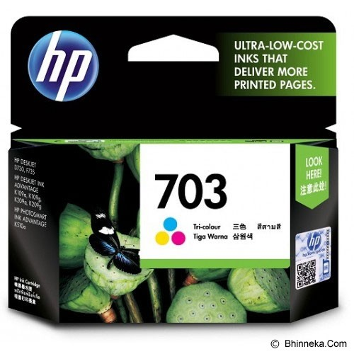 HP Tri-Color Ink Cartridge 703 [CD888AA] - Tinta Printer HP